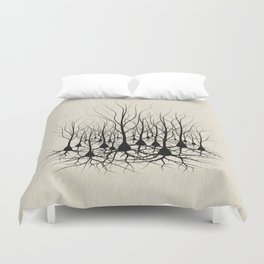 Pyramidal Neuron Forest Duvet Cover