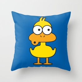 Ooh Zoo – farm-series, Duck Throw Pillow