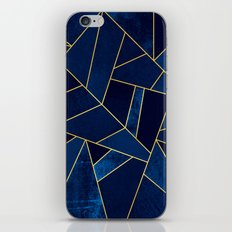 Blue stone with yellow lines iPhone & iPod Skin