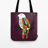 paradise Tote Bags featuring Paradise by Picomodi