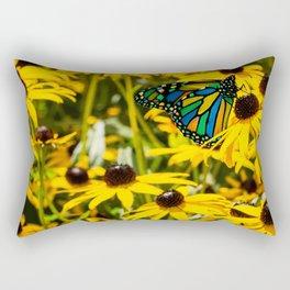 Surreal Monarch on Flowers Rectangular Pillow