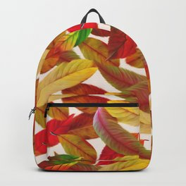 Fall Autumn Feathers Leaves Backpack