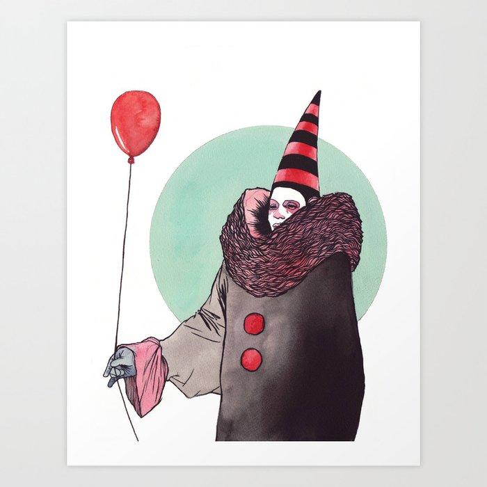 The Balloon Man Art Print by valenzuela