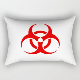 International Biological Hazard Symbol Red Rectangular Pillow