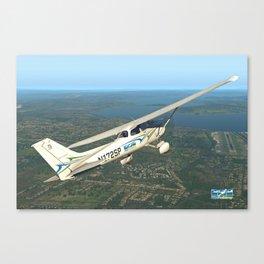 Pilot Proficiency Cessna 172 Canvas Print