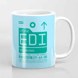 Baggage Tag C - EDI Edinburgh Scotland Coffee Mug