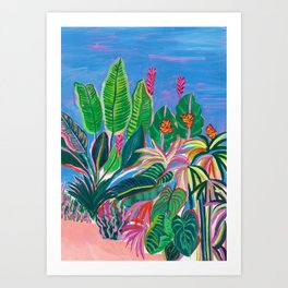 Tropical Patio Art Print