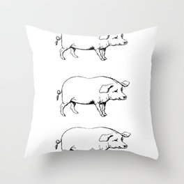 Pigs on a Blanket Throw Pillow