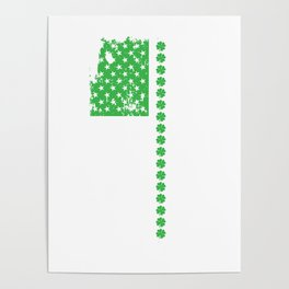 St. Patrick's Day Irish American Flag Poster