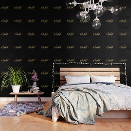 Name and initial of a girl Michelle in golden letters Wallpaper