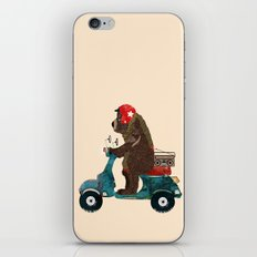scooter bear iPhone Skin