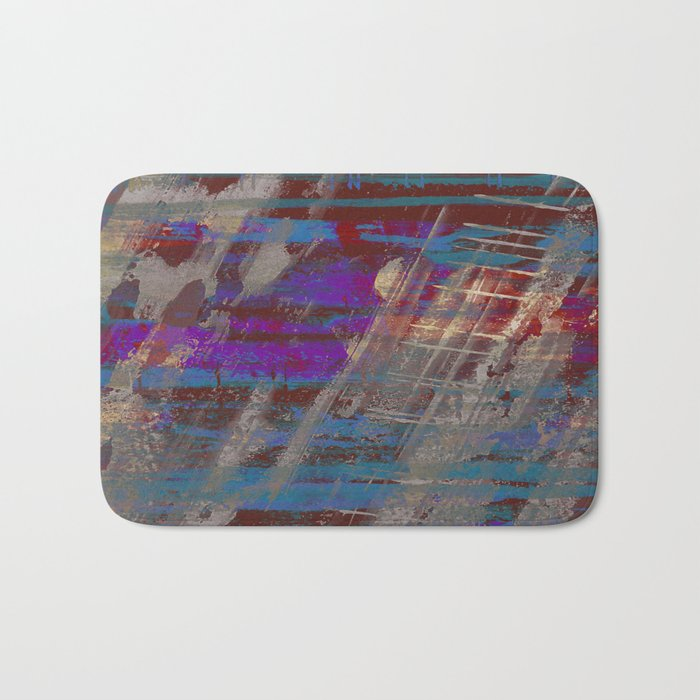 Depth - Abstract, Textured Oil Painting Bath Mat