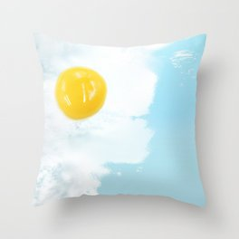 Fried by the beach Throw Pillow
