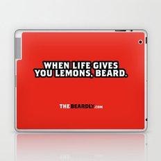 WHEN LIFE GIVES YOU LEMONS, BEARD. Laptop & iPad Skin