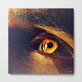 Amber Eyes ART 6565 Metal Print