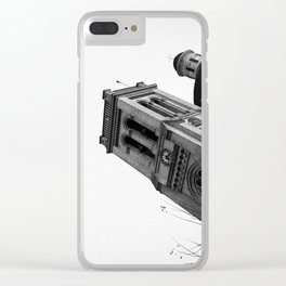 The Tower (B&W) Clear iPhone Case