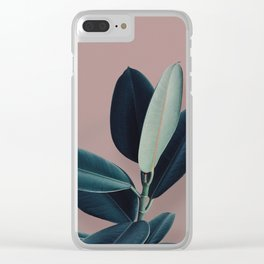 Ficus elastica - berry Clear iPhone Case
