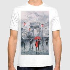Arc de Triomphe White MEDIUM Mens Fitted Tee