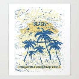 Los Angeles California Beach Art Print