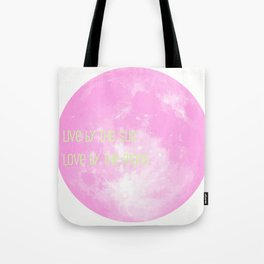 Love By The Moon Pink Tote Bag