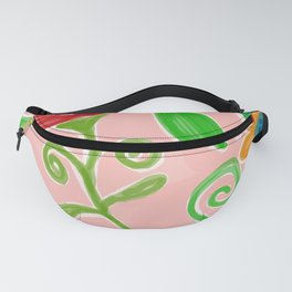 Flowery Painting Fanny Pack