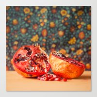 pomegranate Canvas Prints featuring Pomegranate by Marie Carr