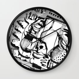 Quality Time - b&w Wall Clock