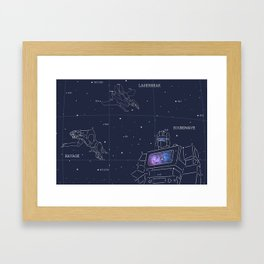 Soundwave, Ravage, Laserbeak Star Chart Framed Art Print