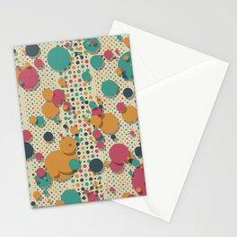 """""""Retro Confetti Polka Dots"""" Stationery Cards"""