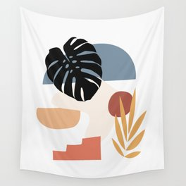 Shapes & plants Wall Tapestry