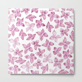 Flower Blossom Pattern I Metal Print