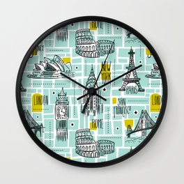 Globetrotter Wall Clock
