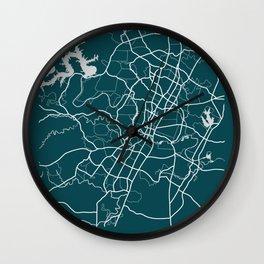 Austin, Texas Map Print Wall Clock