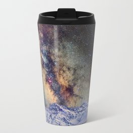 The star Antares, Scorpius and Sagitariuss over the hight mountains. The milky way. Travel Mug