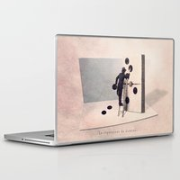 engineer Laptop & iPad Skins featuring The domino engineer by Yann Pendaries