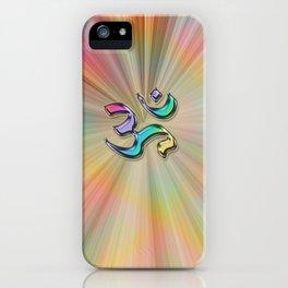 Rainbow Sunburst OM iPhone Case