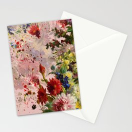 oil flower Stationery Cards