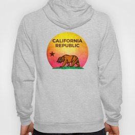 Vintage Retro Eighties California Republic T-Shirt Hoody