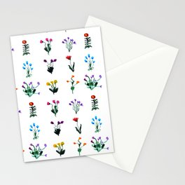 Little modest flowers  Stationery Cards