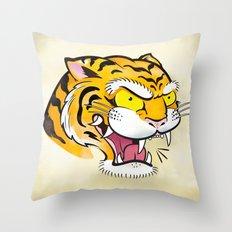 Tiger Tattoo Flash Throw Pillow