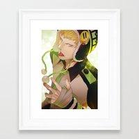 dramatical murder Framed Art Prints featuring DRAMAtical Murder: Noiz by magemg