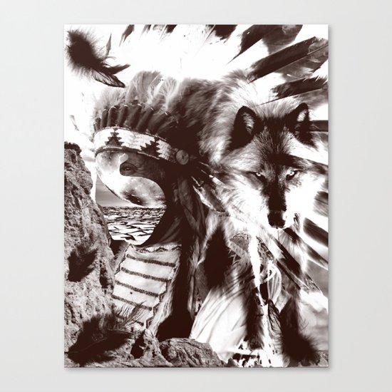 native wolf  Canvas Print