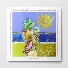 'Mary and Max' (Saw Sea Art Series) Metal Print
