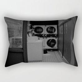 The Laundromat B&W Rectangular Pillow