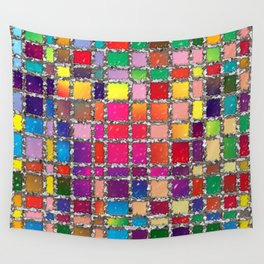 Stained Glass Window Multicolour Pattern Wall Tapestry