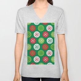 Kitschy Christmas Snowflakes Unisex V-Neck