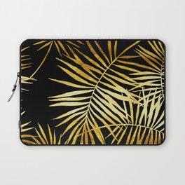 Tropical Palm Fronds Noir Laptop Sleeve