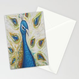 Peacock with White Stationery Cards