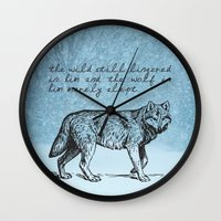 literary Wall Clocks featuring White Fang - Jack London - Literary Art by pennyprintables