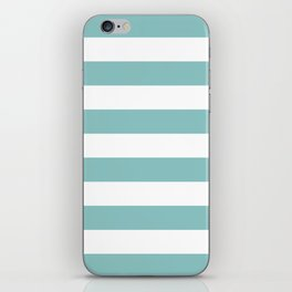 Chalky Blue Horizontal Stripes iPhone Skin